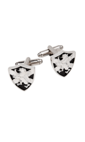 Lion Rampant & Saltire Shield Cufflinks