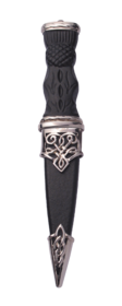 Morar Plated Sgian Dubh With Plain Top.