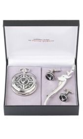 Stag Head 3 Piece Mechanical Watch Gift Set