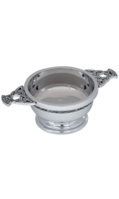 "5"" Celtic Band Chrome Plated Quaich"