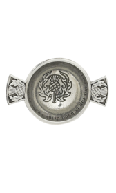 "1.75"" Thistle Mini Pewter Quaich"