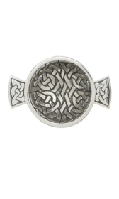 "1.75"" Celtic Weave Mini Pewter Quaich"