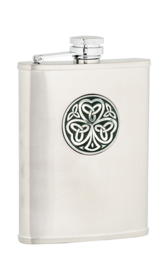 6oz Shamrock Stainless Steel Flask