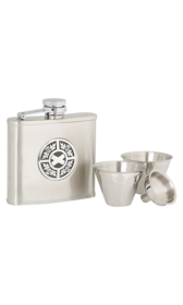 4oz Thistle & Saltire Stainless Steel Flask Set