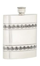 6oz Thistle Band Pewter Flask