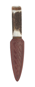 Scottish Staghorn Staghead Sgian Dubh With Walnut