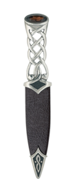 Tay Polished Pewter Sgian Dubh With Stone Top