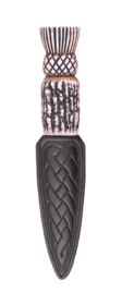 Thistle Imitation Staghorn Sgian Dubh