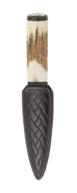Scottish Staghorn Thistle Sgian Dubh With Blackwood