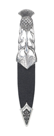 Ryan Thistle Polished Pewter Sgian Dubh