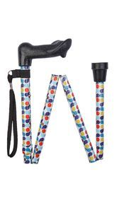Anatomical Retro Spots Folding Stick (right-hand)