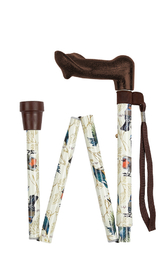 Garden Birds Anatomical Folding Stick (right-hand)