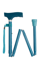 Teal Silicone Handle Folding Stick