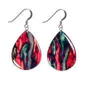 Large Teardrop Drop Earrings