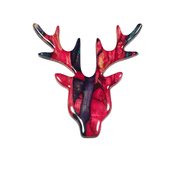 Stag Heather Brooch