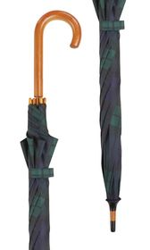 Black Watch Tartan Crook Umbrella x 10