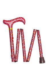 Red Floral Folding Stick