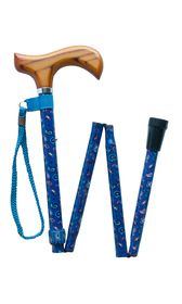 Blue Paisley Folding Stick
