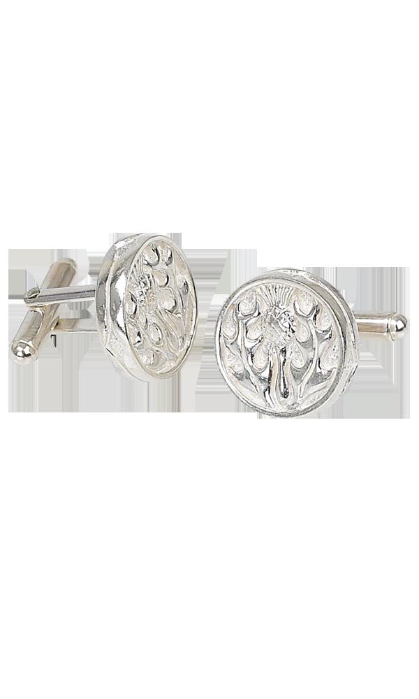 Thistle Silver Cufflinks