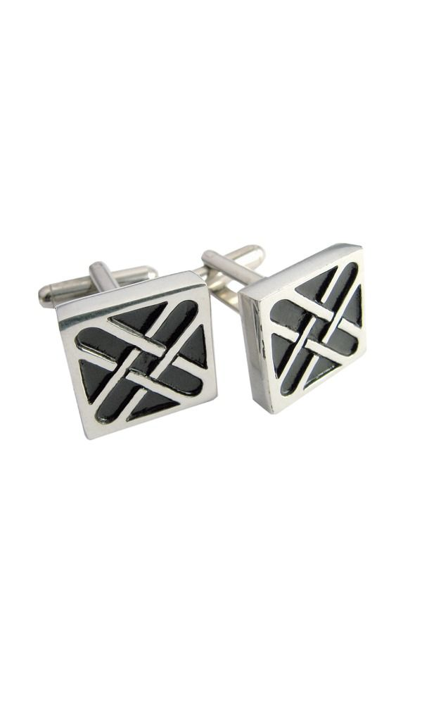 Square Saltire Cufflinks