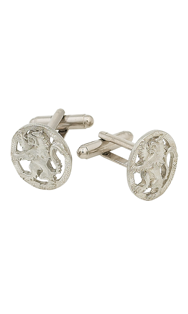 Lion Rampant Polished Cufflinks