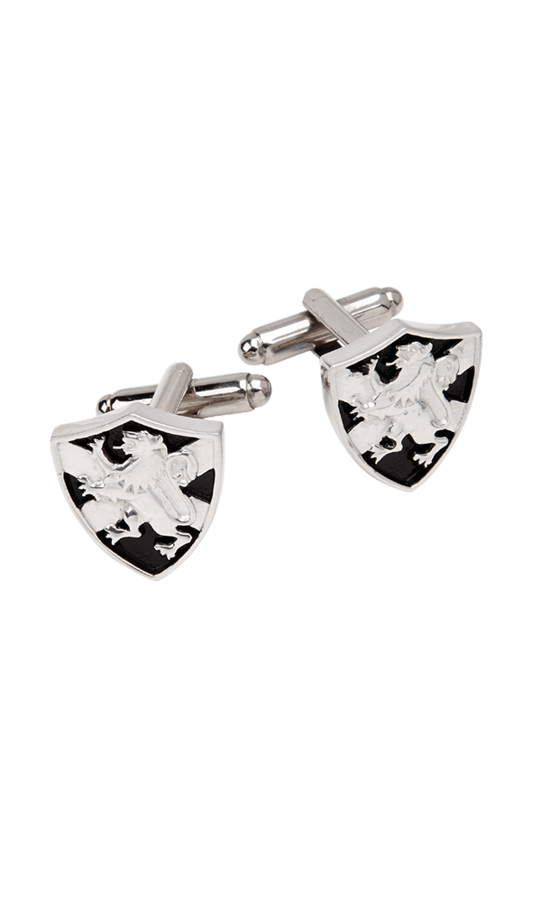 Lion Rampant & Saltire Shield Cufflinks