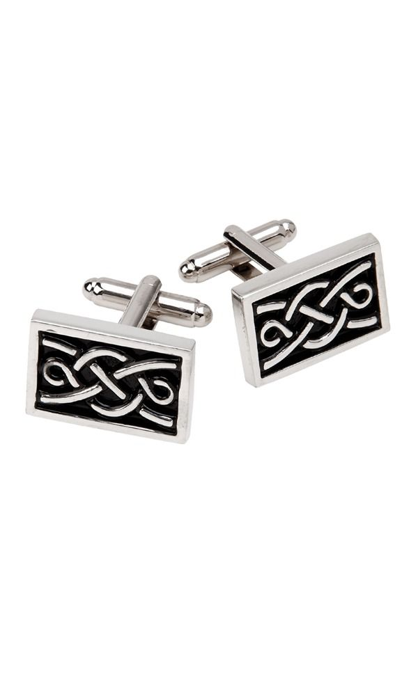 Rectangle Celtic Cufflinks