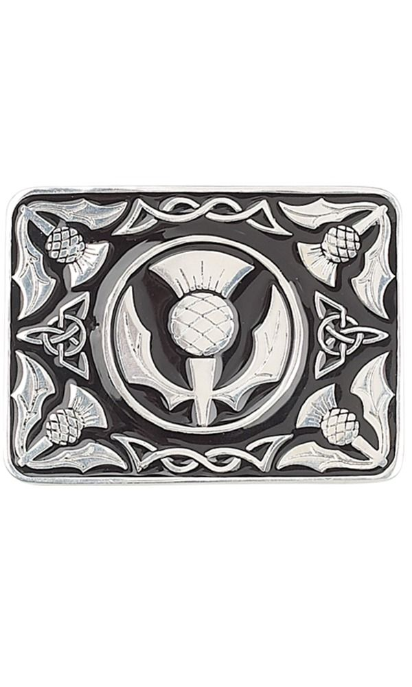 Thistle Enamel Belt Buckle