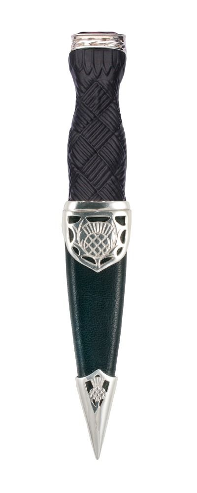 Argyll Sterling Silver Sgian Dubh With Stone Top