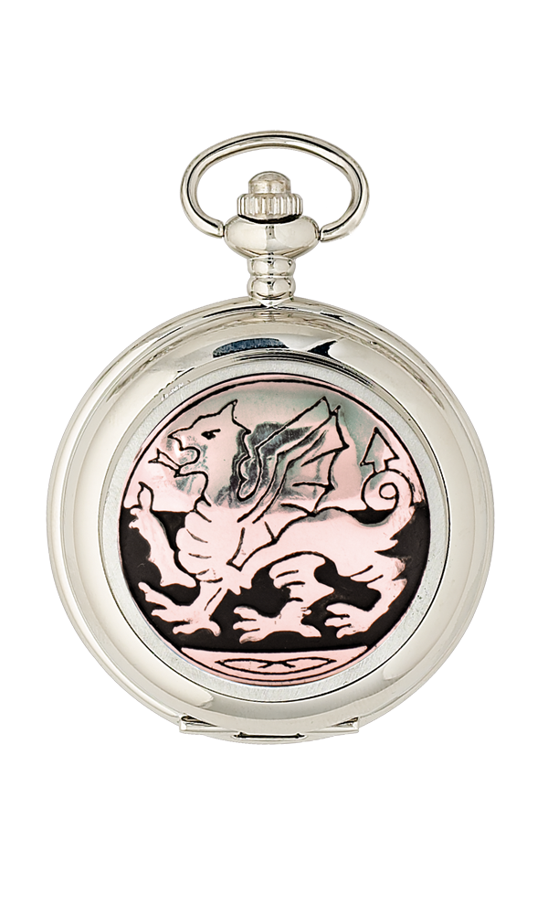 Welsh Dragon Quartz Pocket Watch