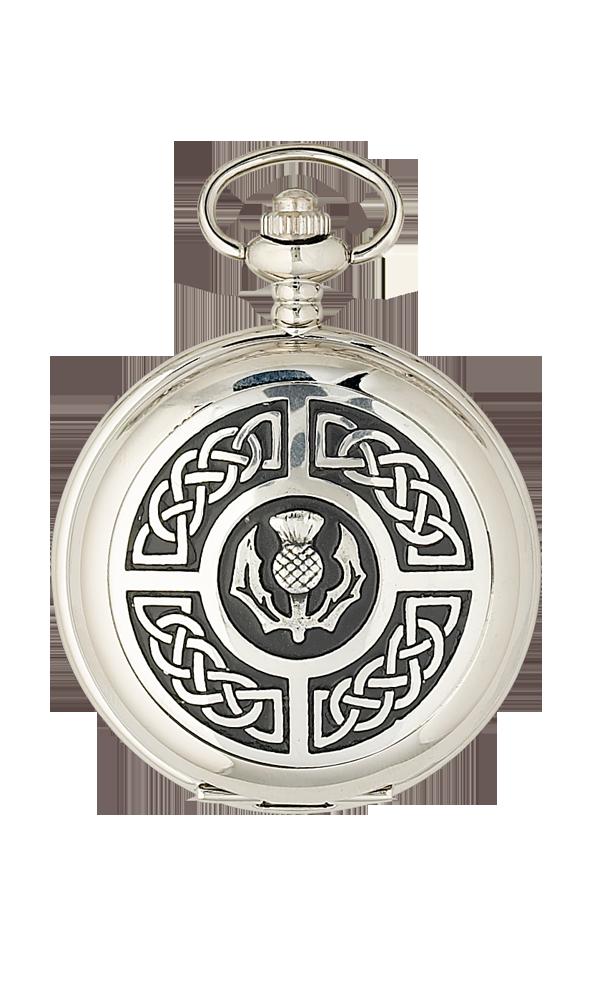Celtic & Thistle Quartz Pocket Watch