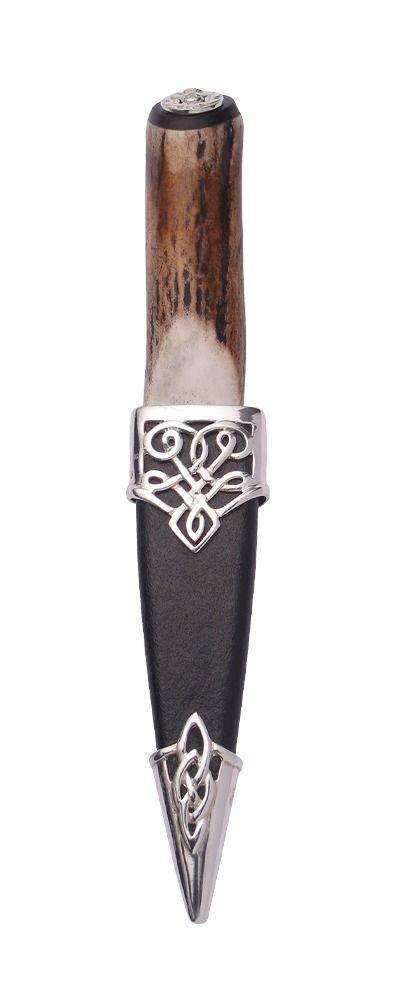 Staghorn Sterling Silver Sgian Dubh