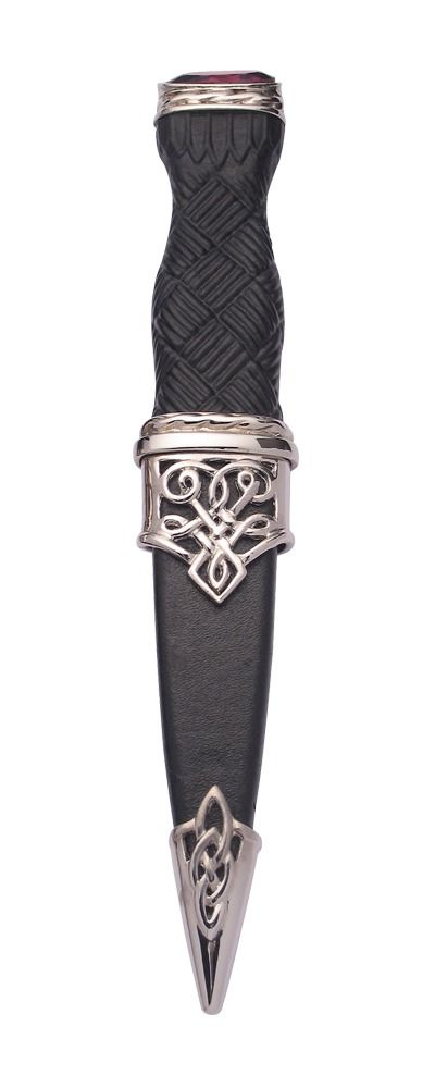 Lomond Plated Sgian Dubh With Stone Top