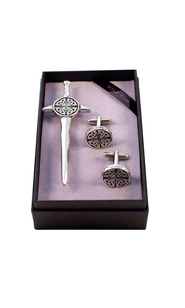 Celtic Kilt Pin & Cufflink Set