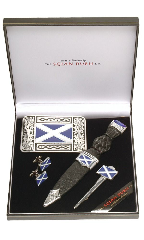 Saltire 4 Piece Gift Set With Stone Top