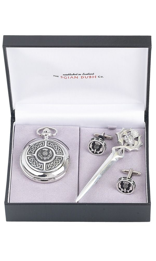 Celtic & Thistle 3 Piece Mechanical Watch Gift Set