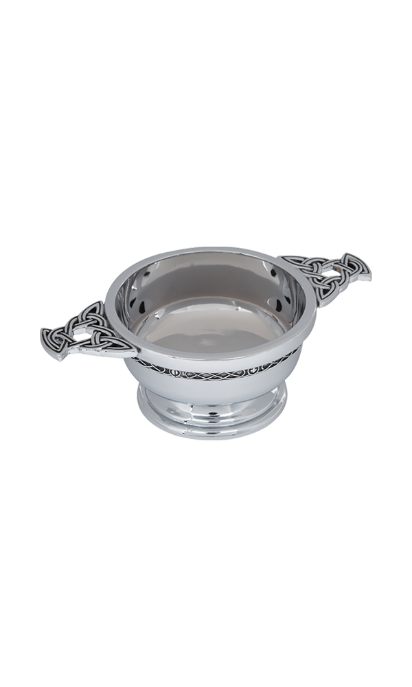 "2"" Celtic Chrome Plated Quaich"