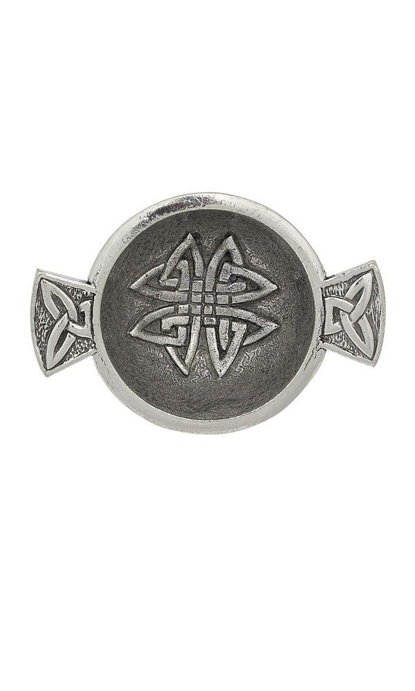 """1.75"""" Celtic Knot Mini Pewter Quaich"""