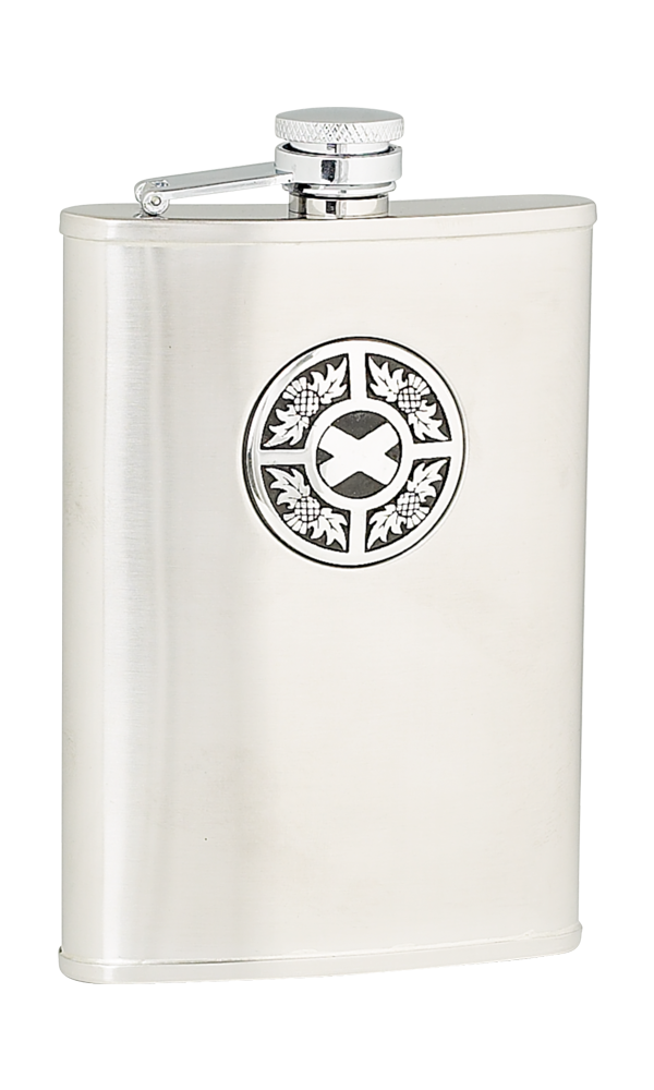 8oz Thistle & Saltire Stainless Steel Flask