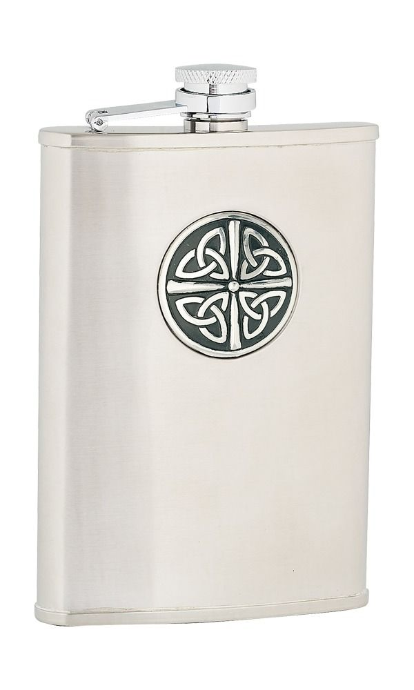 8oz Celtic Knot Stainless Steel Flask