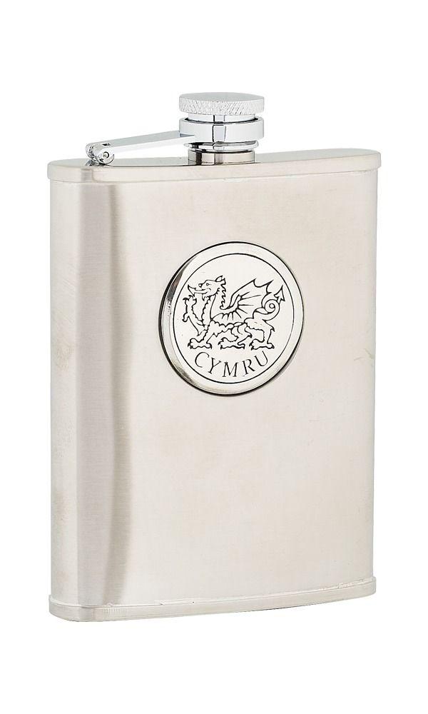 6oz Cymru Stainless Steel Flask