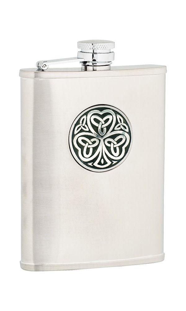 6oz Shamrock Stainless Steel Flask