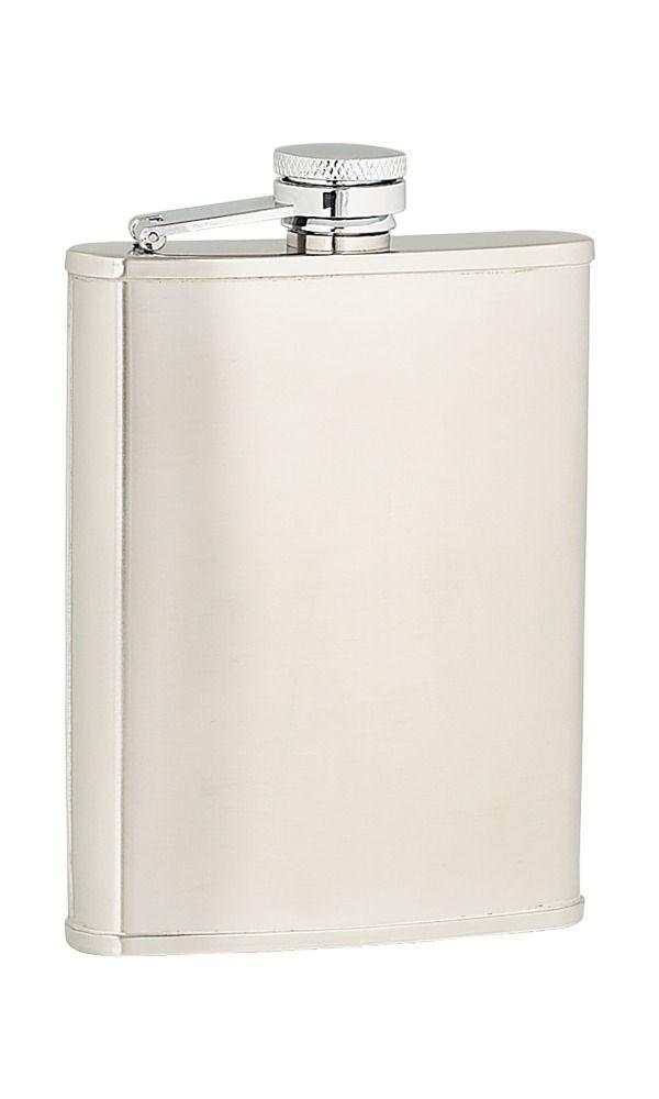 6oz Plain Satin Stainless Steel Flask
