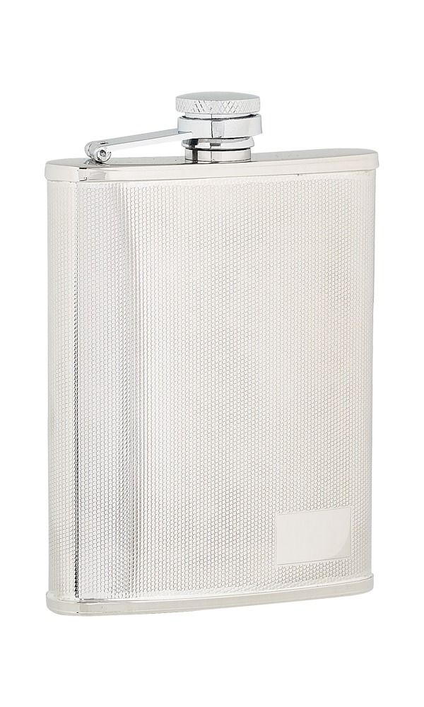 6oz Checked Stainless Steel Flask