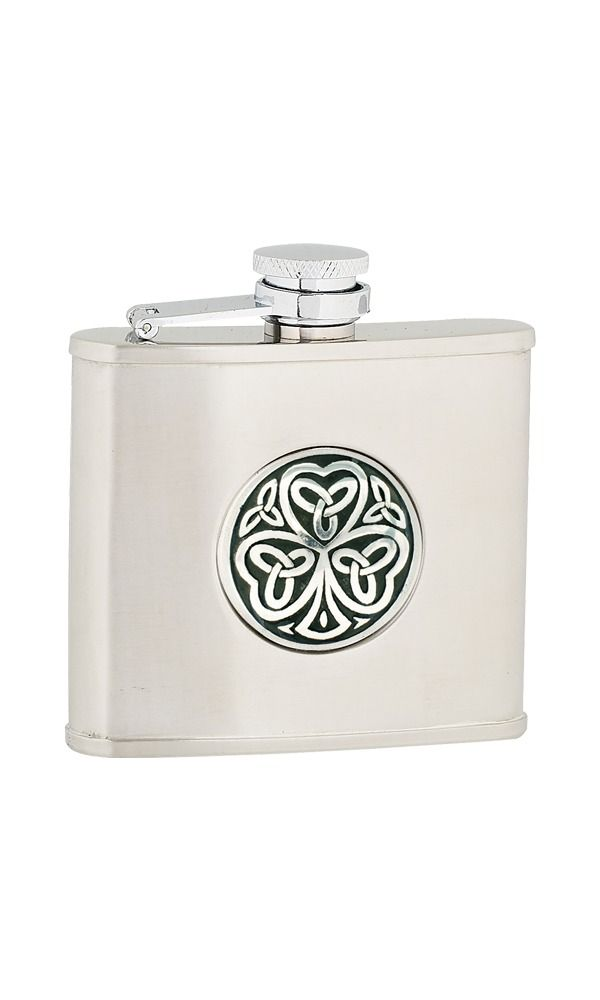 4oz Shamrock Stainless Steel Flask