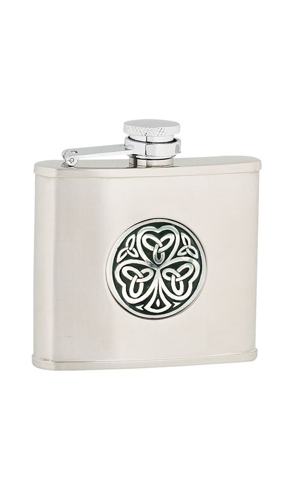 4oz Shamrock Stainless Steel Flask