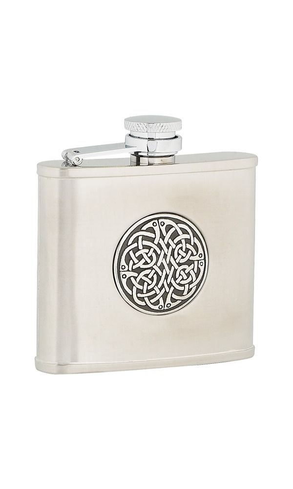 4oz Celtic Weave Stainless Steel Flask