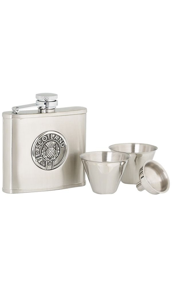 4oz Scotland Stainless Steel Flask Set
