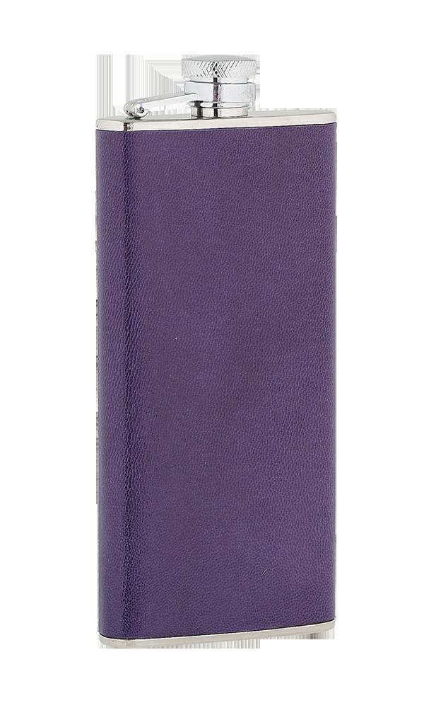5oz Ladies Purple Leather Stainless Steel Flask