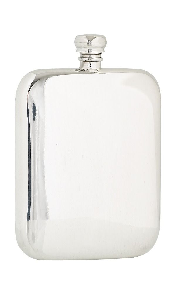 6oz Plain Pewter Flask